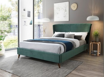 Birlea Rowan 4ft Small Double Green Velvet Fabric Bed Frame