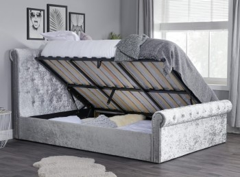 Birlea Sienna 4ft6 Double Steel Crushed Velvet Ottoman Bed Frame