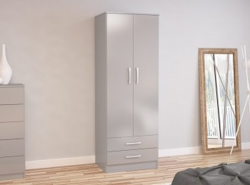 Birlea Lynx Grey 2 Door Combi Robe