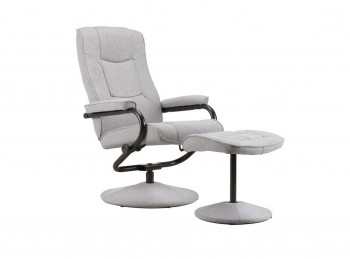 Birlea Memphis Grey Fabric Swivel Chair And Stool