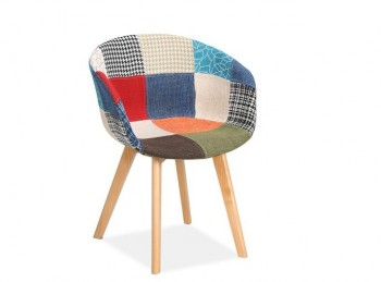 Birlea Whittaker Chair In Patchwork Fabric