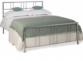 OBC Tain 4ft 6 Double Chrome Metal Headboard