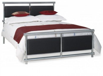 OBC Tay 4ft 6 Double Chrome Metal Headboard