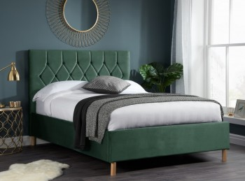 Birlea Loxley 5ft Kingsize Green Fabric Bed Frame