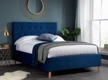 Birlea Loxley 5ft Kingsize Blue Fabric Bed Frame