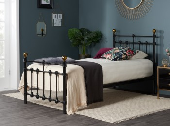 Birlea Atlas 3ft Single Black Metal Bed Frame