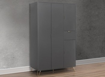 Birlea Arlo 4 Door Wardrobe In Grey