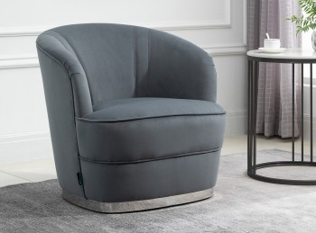Birlea Cleo Accent In Grey Fabric