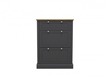 LPD Devon Charcoal Finish Shoe Cabinet