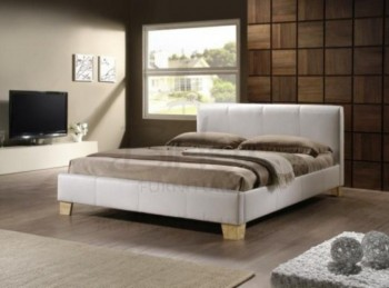 Birlea Brooklyn White 4ft6 Double Faux Leather Bed Frame