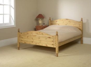 Friendship Mill Orlando High Foot End 4ft Small Double Pine Wooden Bed