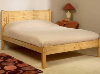 Friendship Mill Vegas Low Foot End 4ft6 Double Pine Wooden Bed Frame