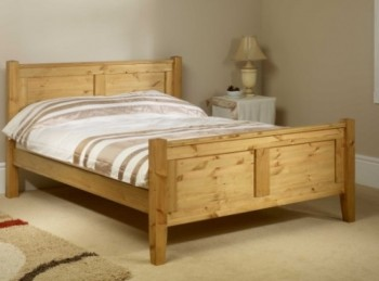 Friendship Mill Coniston High Foot End 5ft Kingsize Pine Wooden Bed Frame