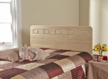 Friendship Mill Miami Oak Effect 4ft Small Double Wooden Headboard