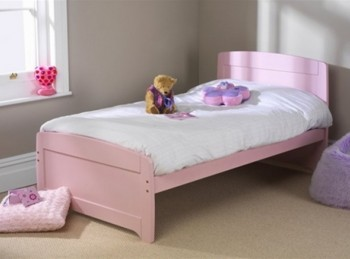 Friendship Mill Rainbow Pink 3ft by 5ft9 SHORT Single Wooden Bed Frame