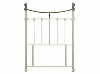Serene Edwardian II Ivory 3ft Single Metal Headboard