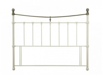 Serene Edwardian II Ivory 6ft Super Kingsize Metal Headboard