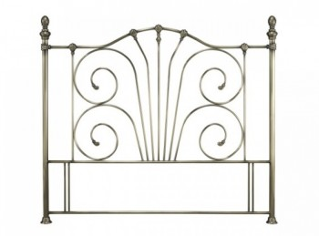 Serene Jessica 4ft Small Double Brass Metal Headboard