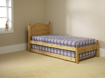 Friendship Mill 3ft Single Pine Wooden Guest Bed Frame