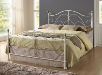 Birlea Milano Cream 4ft6 Double Metal Bed Frame