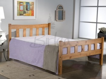 Birlea Miami 4ft6 Double Pine Wooden Bed Frame