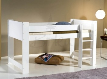Birlea Cube Pine White Mid Sleeper Bed