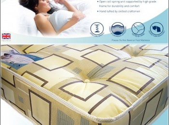 Time Living Slumber Sleep Venus 4ft Small Double Open Coil Spring Mattress