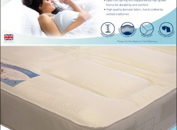Time Living Slumber Sleep Deluxe 4ft Small Double Open Coil Spring Mattress