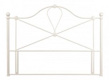 Serene Lyon 4ft6 Double Ivory Gloss Metal Headboard