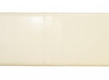 serene carmela 4ft small double cream faux leather headboard