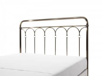 Serene Shilton 6ft Super King Size Antique Brass Metal Headboard with Crystals