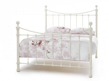 Serene Edwardian Ii Ivory 6ft Super Kingsize Metal Bed Frame By