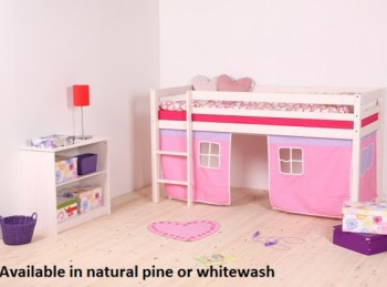 Thuka Hit 6 Childrens Mid Sleeper Bed Frame Available in Natural or Whitewash