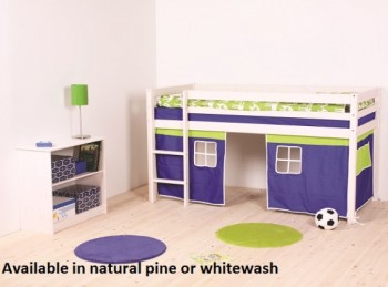 Thuka Hit 13 Childrens Mid Sleeper Bed Frame Available in Natural or Whitewash