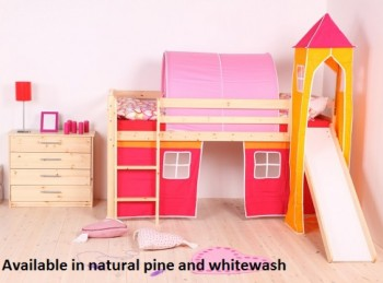 Thuka Hit 16 Childrens Mid Sleeper Bed Frame Available in Natural or Whitewash
