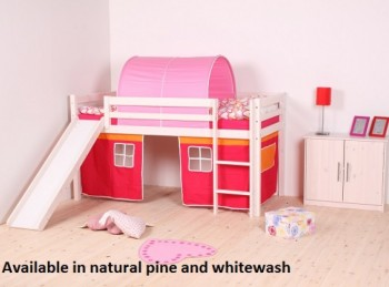 Thuka Hit 19 Childrens Mid Sleeper Bed Frame Available in Natural or Whitewash