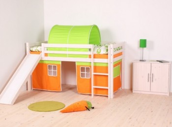 Thuka Hit 22 Childrens Mid Sleeper Bed Frame Available in Natural or Whitewash
