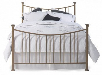 OBC Emyvale 4ft 6 Double Pewter Metal Bed Frame