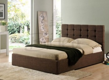 Birlea Isabella 6ft Super King Size Brown Upholstered Fabric Bed Frame