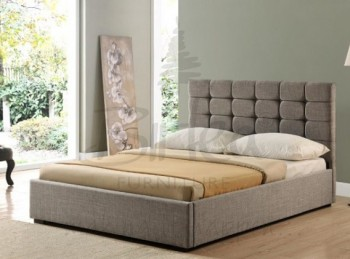 Birlea Isabella 6ft Super King Size Grey Upholstered Fabric Bed Frame