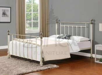 Birlea Charlotte 5ft King Size Cream Metal Bed Frame