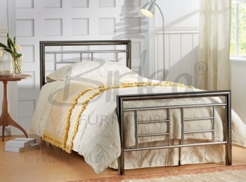 Birlea Montana Chrome and Nickel 3ft Single Metal Bed Frame
