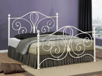 Birlea Florence 5ft King Size Metal Cream Bed Frame