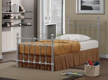 Birlea Atlas 3ft Single Silver Metal Bed Frame