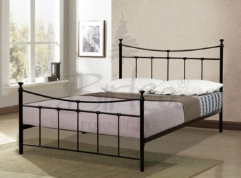 Birlea Emily 4ft6 Double Black Metal Bed Frame