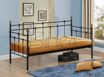 Birlea Atlas 3ft Single Black Metal Day Bed Frame