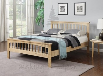 Birlea Saunton 4ft6 Double Solid Oak Bed Frame