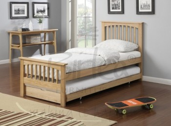 Birlea Saunton 3ft Single Solid Oak Guest Bed Frame