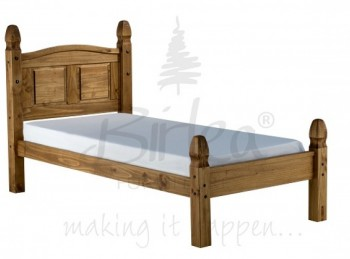 Birlea Corona 3ft Single Pine Bed Frame with Low Footend