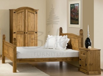 Birlea Corona 5ft King Size Pine Bed Frame with High Footend